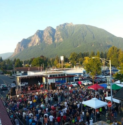 Previous Block Party in downtown North Bend. Photo: Boxley's