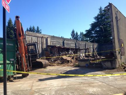 The Brook being partally demolished, cleaned up for sale, 7/2/15.