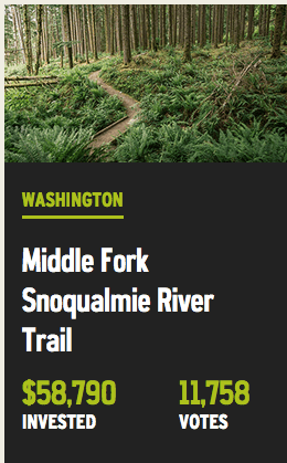 Middle Fork Trail Gets Thousands for Repairs through REI's 'Every