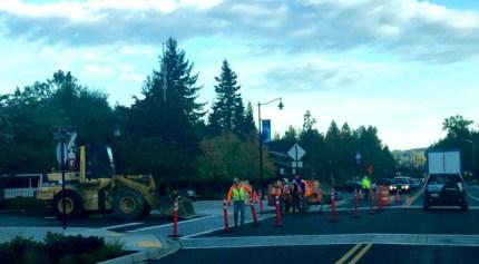 King Street road work, 9/23/15