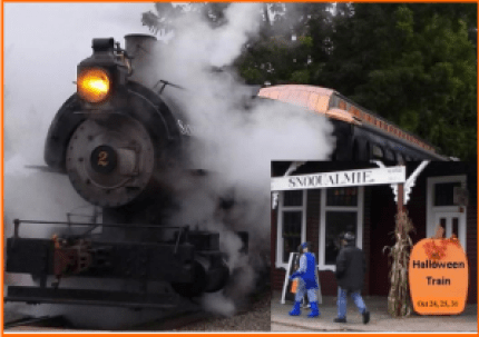 steam train halloween