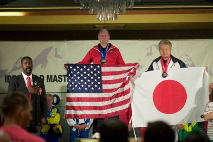Alan Tepper at International Masters Powerlifting Championships in Aurora, CO in September.