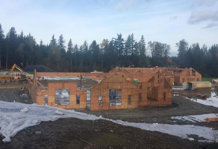New SVSD elementary school under construction at corner of Swenson Drive and Snoqualmie Pkwy