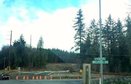 Tokul roundabout construction near Snoqualmie Falls, about 1/3 mile away.