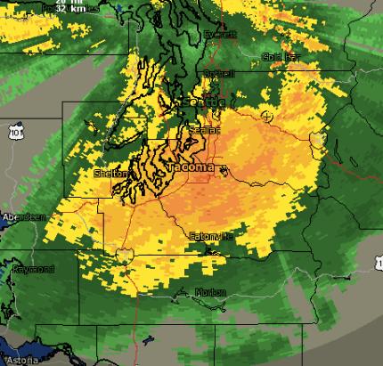 Weather radar at 11:15AM, 11/17/15