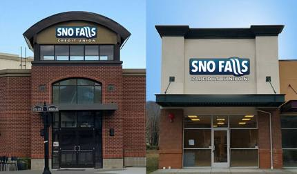 Sno Falls Credit Union's two new stand alone locations set to open in late January or early February 2016.