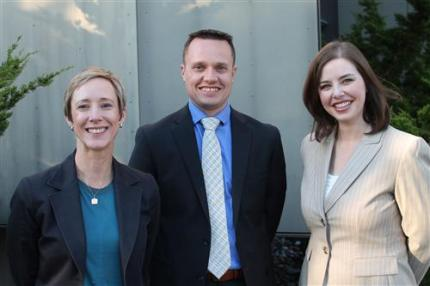 Michelle Trifunovic (CKMS), Ryan Hill (OES), Stephanie Shepherd (NBES). Photo: Snoqualmie Valley School District