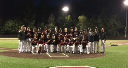 MSHS Baseball after winning the KingCo 4A title on May 10, 2016. Photo: MSHS Facebook page