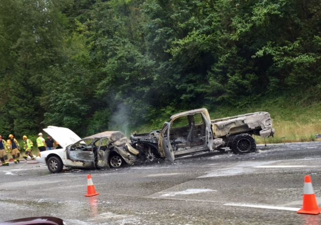 State Patrol says Speed a factor in Chain reaction, Fiery