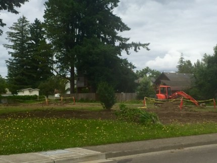District purchased home behind Wildcat Stadium was torn down in July.