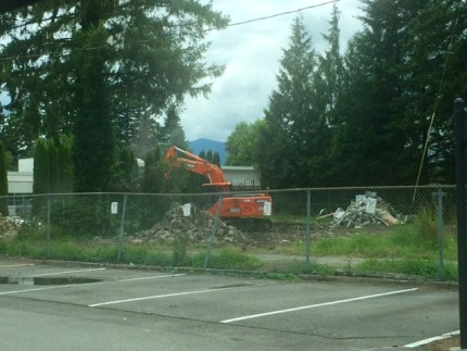 Homes purchased behind Mount Si High School for the re-build project were torn down in July