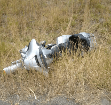 Motorcycle involved in fatal accident near Denny Creek on 8/31/16. Photo: WSP