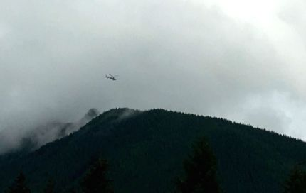 Helicopter near Mount Si, 9/3/16. Photo: Jennifer Boivin