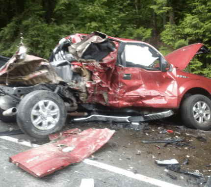 Truck involved in SR 18 accident, 9/8/16