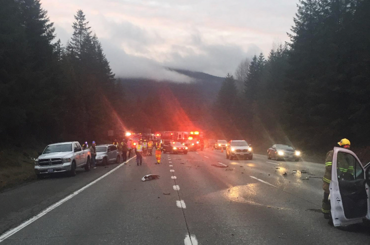 Police say DUI caused serious, multi-car accident near I-90