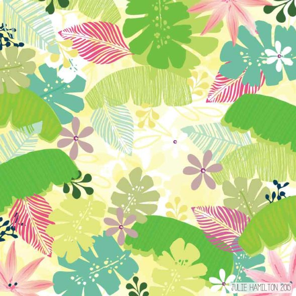 Tropical Print - Julie Hamilton {artistically afflicted blog}