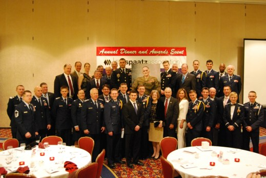 Pictured above are the recipients of the Gen Carl A. Spaatz Award that attended this year's dinner.
