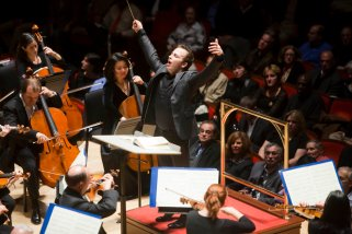 Yannick Nézet-Séguin leads The Philadelphia Orchestra during a performance of Haydn's Symphony No. 100 and Mahler's Symphony No. 5 at Verizon Hall in Philadelphia on Friday, October 29, 2010.