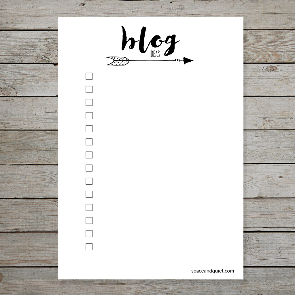Free Bullet Journal Printable Blog Planner Layouts