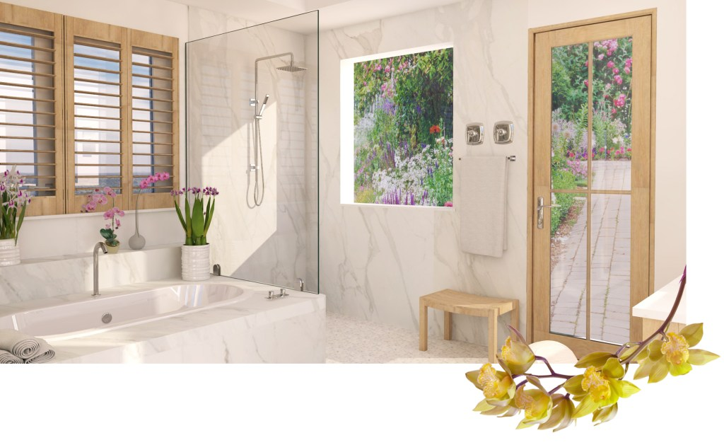 Orchid Garden Inspired Master Bath Design In Its Initial Conceptual Phase The Final Is Now Being Fine Tuned And Were So Excited To See This One