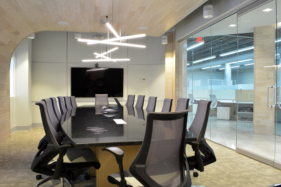 Modern tech office design in Tampa Florida by Space as Art
