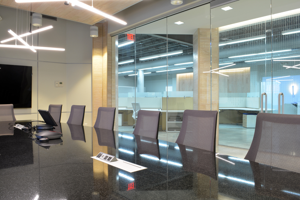Conference room design in modern tech office interior design in Tampa Florida by Space as Art