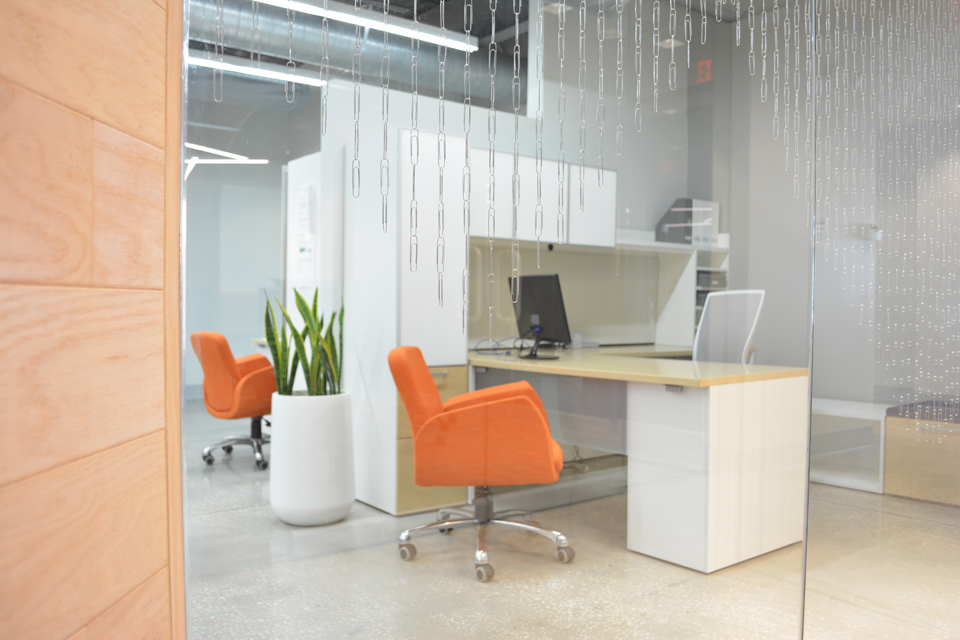 Modern office furniture and design in Tampa Florida by Space as Art