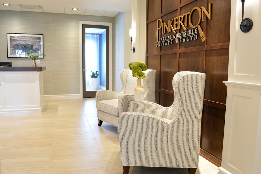 Interior design for financial firm office by Space as Art Tampa Sarasota Venice interior designer