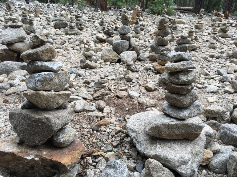 Creating unnecessary cairns along trails is not good trail etiquette