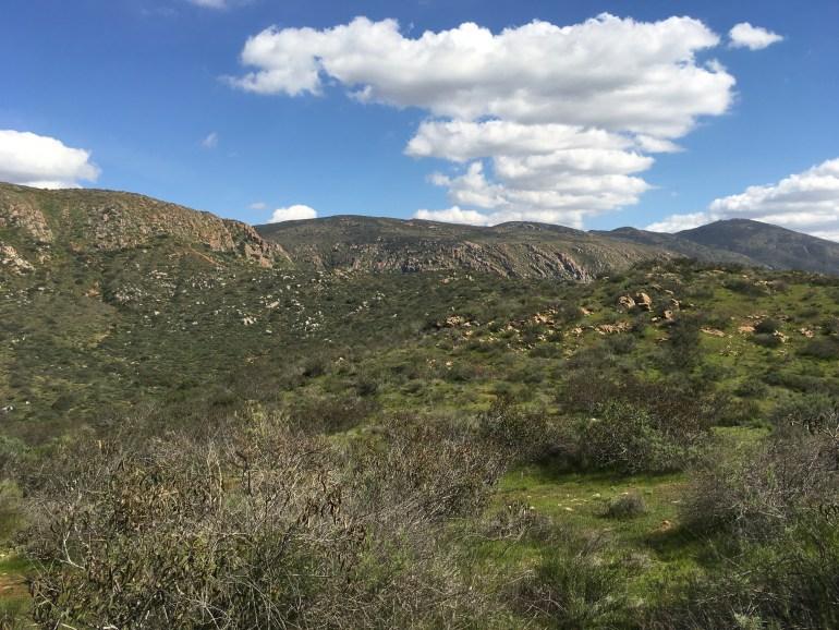 A mountain ridge line