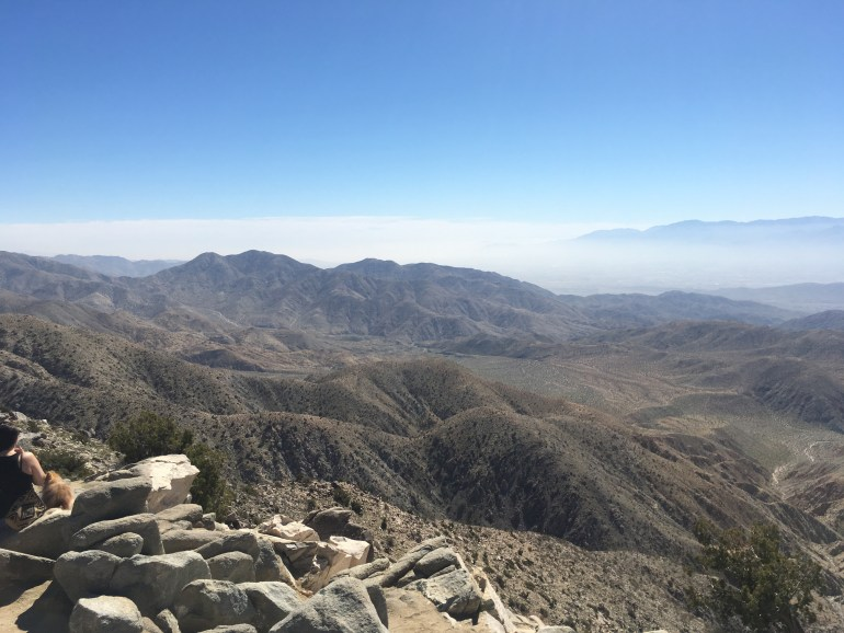 A view from the top of a mountain.