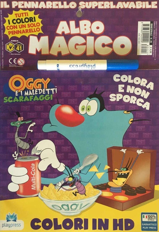 Libro da colorare - Oggy e i maledetti scarafaggi