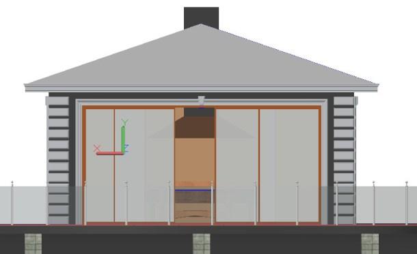 3D моделирование беседки в Автокад 3