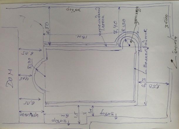 Эскиз для проектирования бассейна