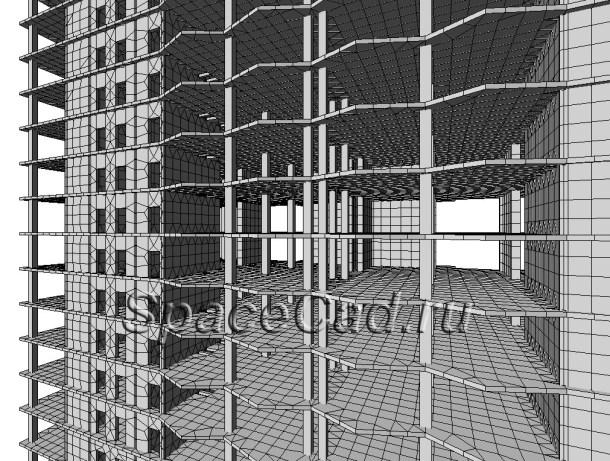Расчет конструкций в Лира Расчетная схема 4
