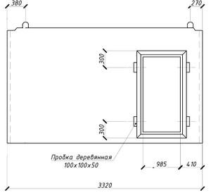 Внутренняя стеновая панель ВС16 - 2