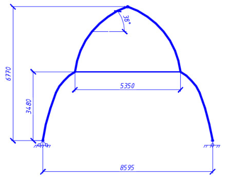 Расчет деревянной арки в Лира-САПР