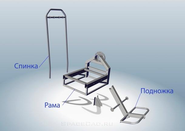 Каркас кресла Сборка каркаса