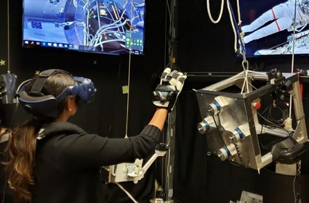 entrenamiento realidad virtual en la NASA