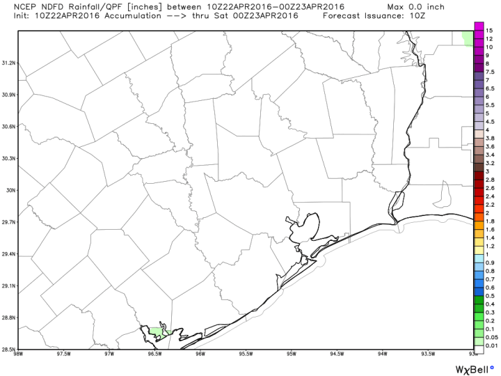 No complaints about today's rainfall forecast for Southeast Texas. (Weather Bell)