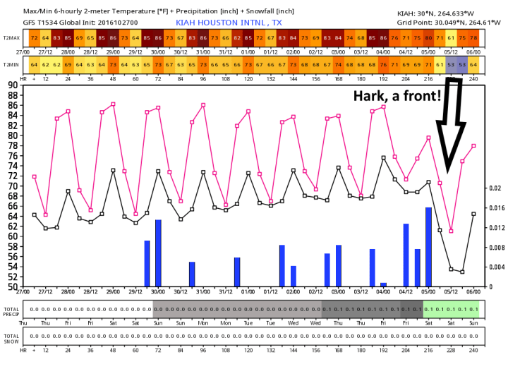 Ten-day forecast from the GFS model. (Weather Bell)