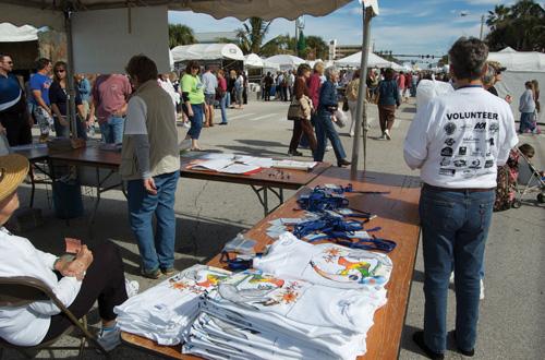 SCAF Volunteer Booth