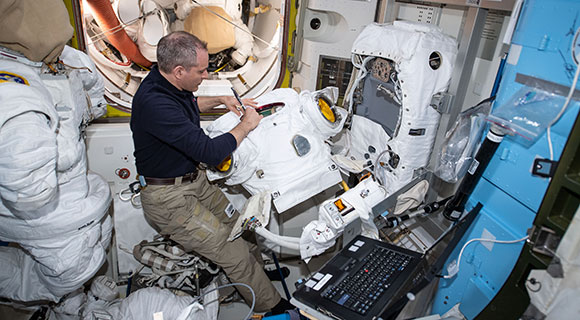 DRESSING FOR THE JOB: NASA Spacesuits Prepped for Upcoming Spacewalks