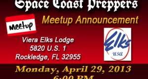 Space Coast Preppers- Announcing Our Second Meetup!