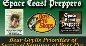Bear Grylls Priorities of Survival Seminar at the Bass Pro Shops in Orlando, FL- Space Coast Preppers.com