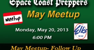May 20th Meetup: Follow Up - Space Coast Preppers.com