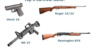 Four Survival Guns - Space Coast Preppers.com