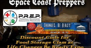 Discount Code for Food Storage Class at Life Changes Be Ready Expo