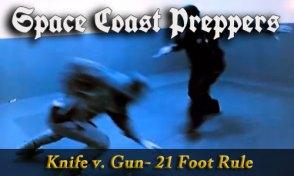 Video: Knife vs Gun- The 21 Foot Rule- Space Coast Preppers