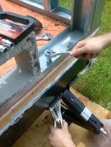 Rob tightening a bolt